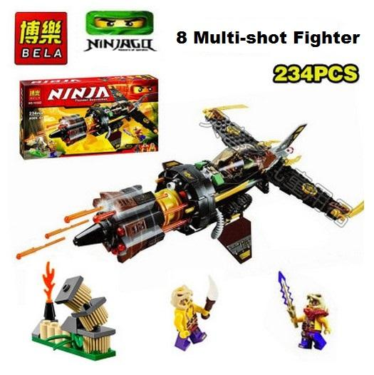 Bela Lego Compatible Ninjago 10322 Multi-shot Air Fighter