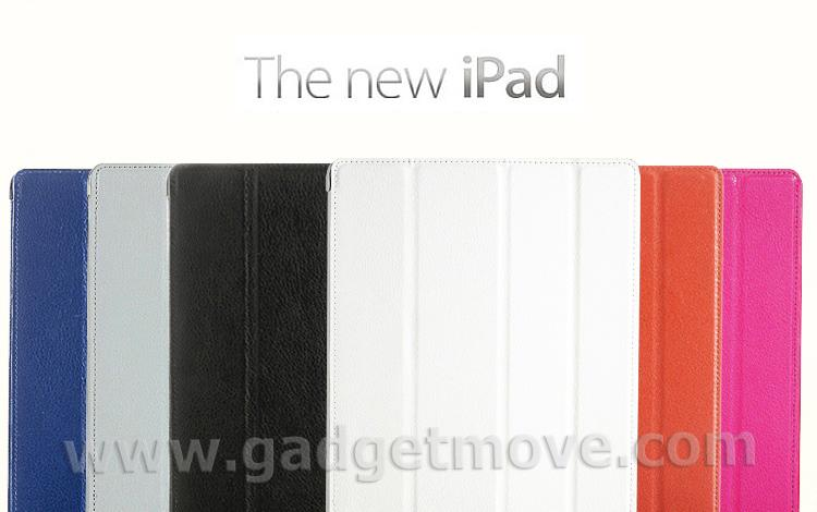 BELK ZETA The New iPad 3 Smart Cover PU Leather case standable