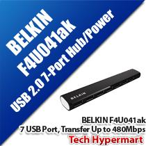 BELKIN F4U041AK DRUMSTICK USB 2.0 7-PORT HUB/ POWER SUPPLY