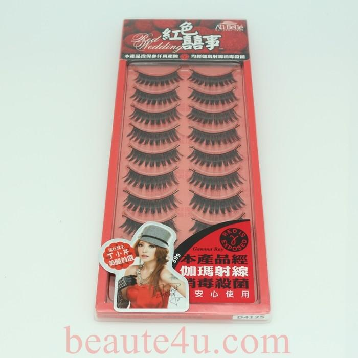 All Belle Red Wedding Eyelash D4125