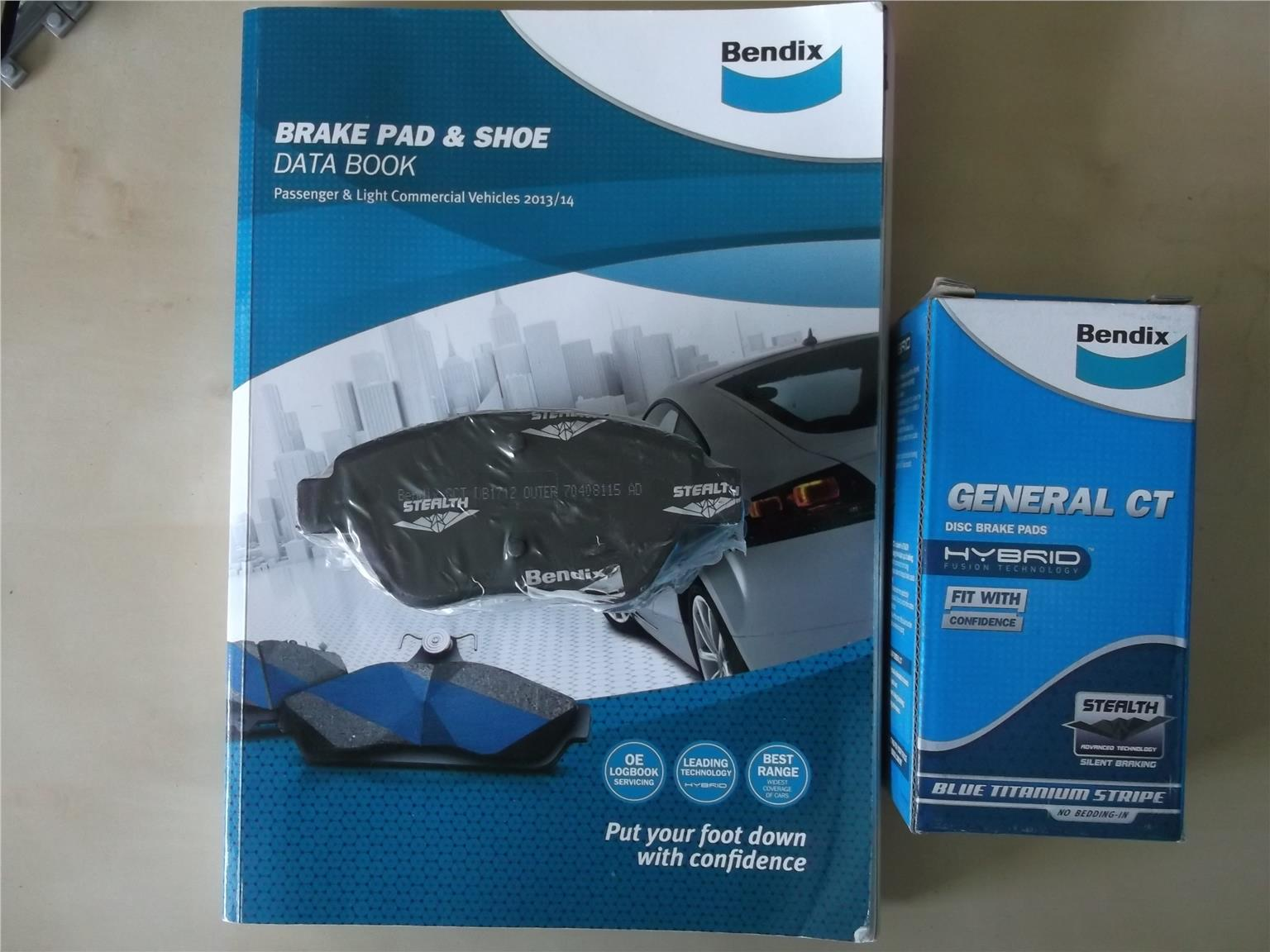BENDIX GENERAL CT FRONT PAD for GEN 2, PERSONA,SATRIA NEO
