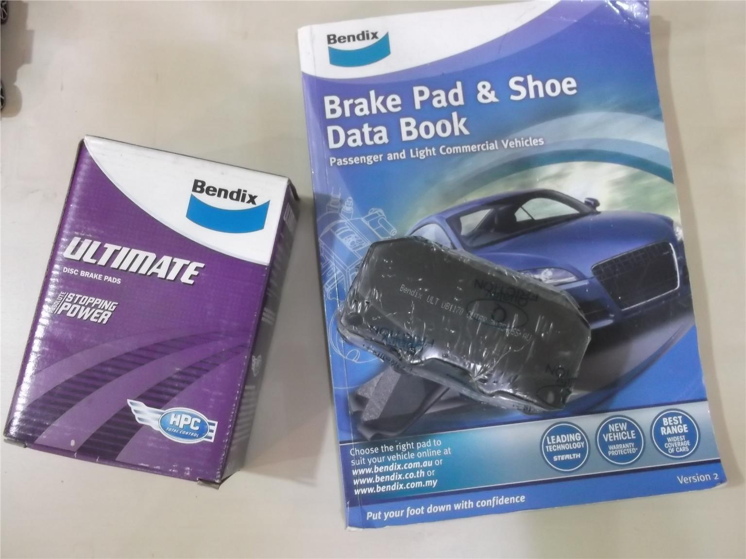 BENDIX ULTIMATE FRONT BRAKE PAD FOR NISSAN/SUBARU 4 POT