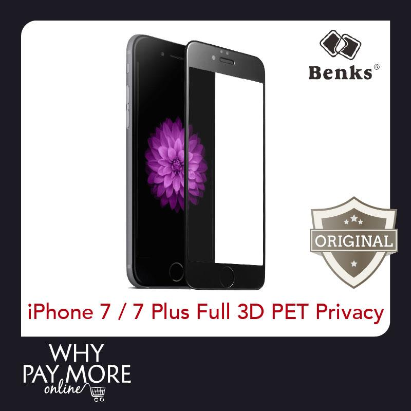 Benks iPhone 7 7 Plus 3D Anti Privacy Full Screen Tempered Protector