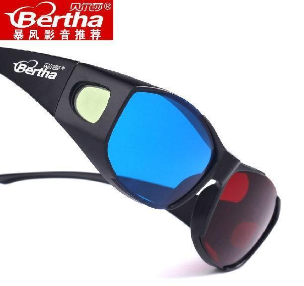 Bertha Red Blue 3D Glasses For computer video 3D movies