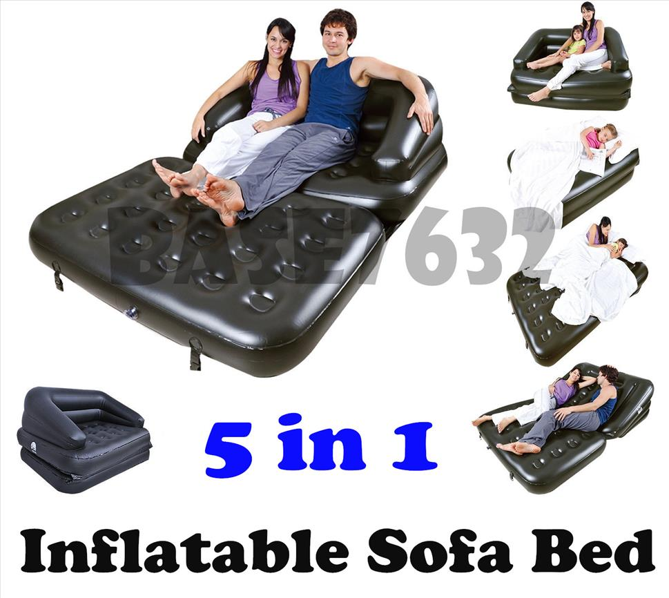 Bestway 5 in 1  Inflatable Double Sofa Bed Mattress Seat w/Pump