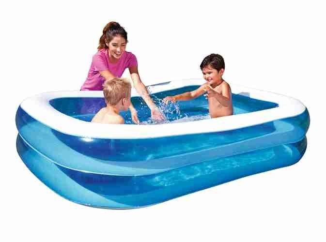 Bestway Inflatable Paddling Family Kids Swimming pool 2.01mx1.5mx51cm