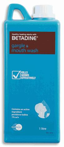 Betadine Gargle & Mouth Wash 1000ml (For Mouth Ulcer & Sore Throat)