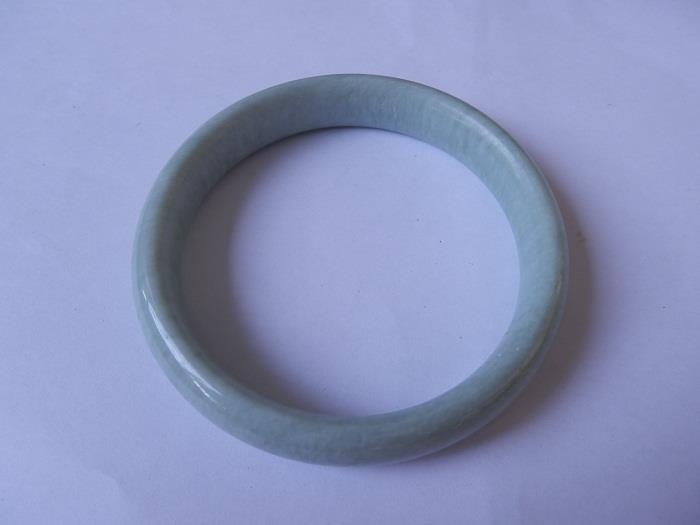 BGBJ4  Natural Burma Jade Bangle 65mm