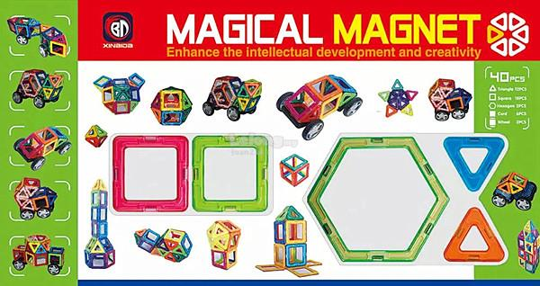 [Bibi] Magical Magnet 40 Pieces Construction Set