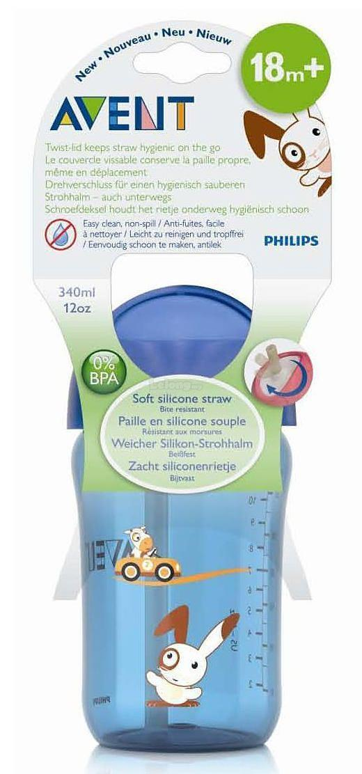 [Bibi] Philips Avent 340ml/12oz Blue Straw Cup (18m+)