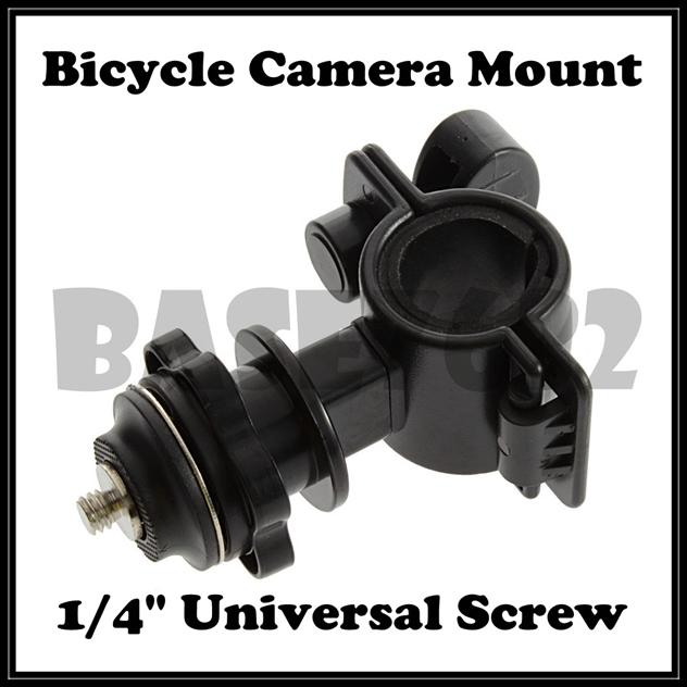 Bicycle Camera Mount Holder  Clamp Universal 1/4' Screw