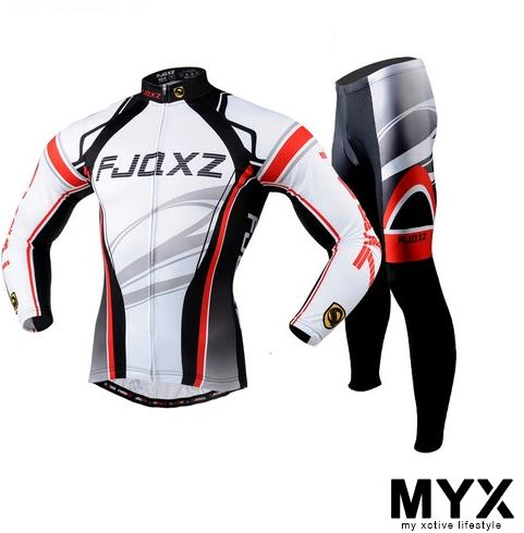 Bicycle Cycling Long Sleeve Pants Jersey Suit Cushion Clothings Shirt
