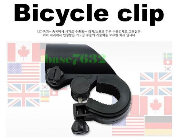 Bicycle T6  Torch Light Holder Cycling Clip Bracket Torch Frame Clamp
