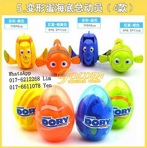 Big Egg Finding Dory Mini Figure TBT222 (12 pcs / box @ 4pcs / set)