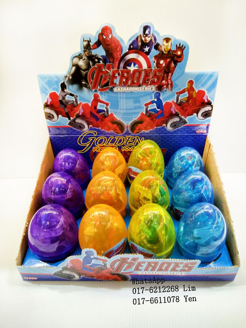 Big Egg Heroes Gashapon Series Mini Figure (4pcs / set @ 12pcs / box)