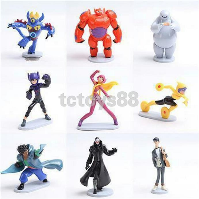 Big Hero 6 Figure. Cake Topper. (9pc in 1). New.