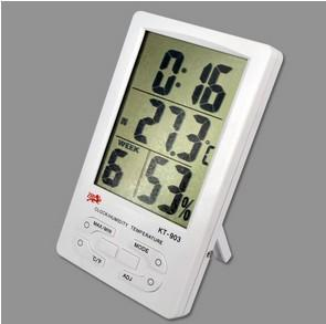 Big LCD Display Digital Thermometer Hygrometer Indoor Outdoor Humidit