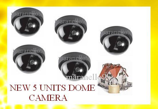Bigger & Better 5 Units! : Dome Security Camera Realistic Looking CCTV
