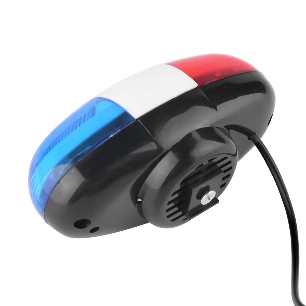 Bike Bicycle Cycling 4 Sounds LED Police Car Siren Electric Light Horn..