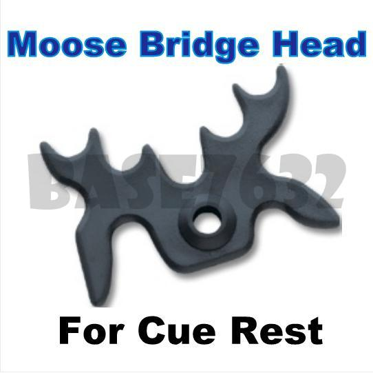 Billiard  Cue Cues Snooker Pool Moose Head Bridge Stick X Rest