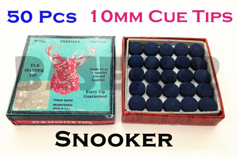 Billiard ELK Master Blue Pool Snooker Cue Tips Tip  10mm 50pcs