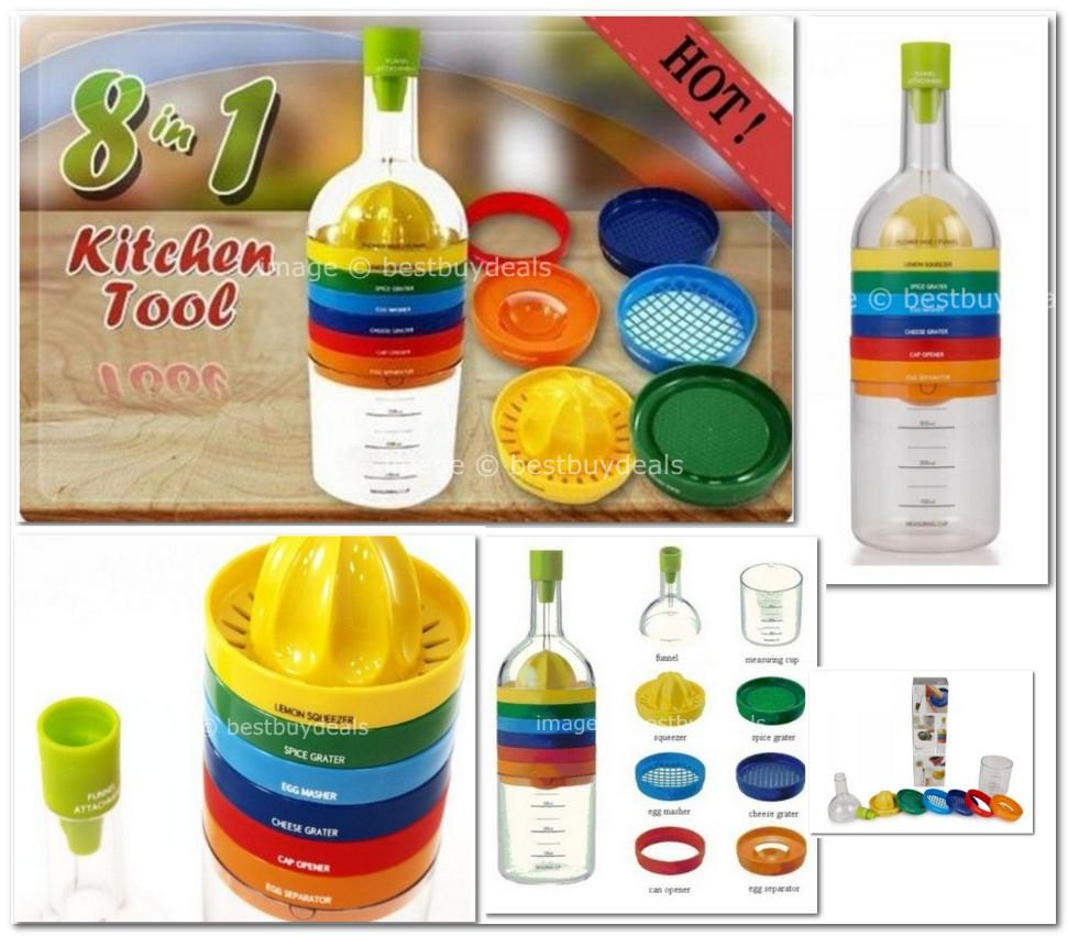 Bin 8 tools 8 in 1 creative kitchen b end 1 5 2015 9 15 pm for Colorful kitchen tools