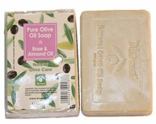 Bioesti 100%Rose Olive Oil Soap with Organic Almond Oil 100% Olive oil