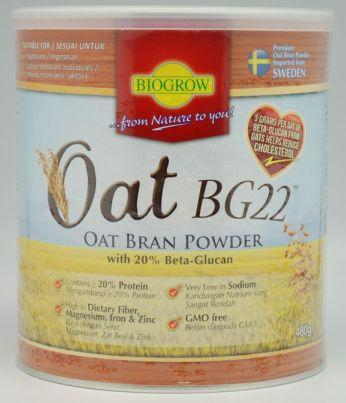 Biogrow, Oat BG22, Oat Bran Powder 480g, BEST DEAL- 2 tin for RM120!!!