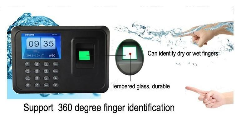 biometric fingerprint punch usb time clock