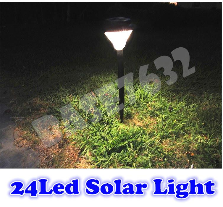 (Black)  24Led Solar Garden Ground Light 24 Led Cool White Warm 1415.1