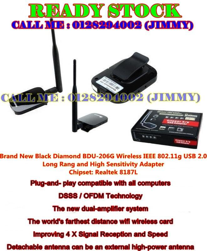 Black Diamond Wifi Adapter Realtek RTL8187L Wireless Signalking Alfa K