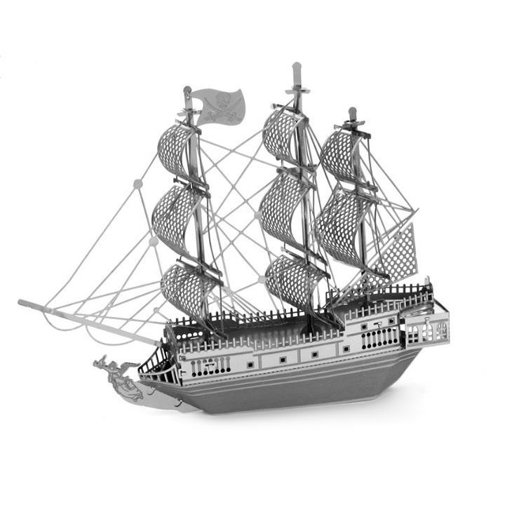 Black Pearl Ship ZOYO Metallic Nano 3D Puzzle / DIY / Laser Cut/ Metal