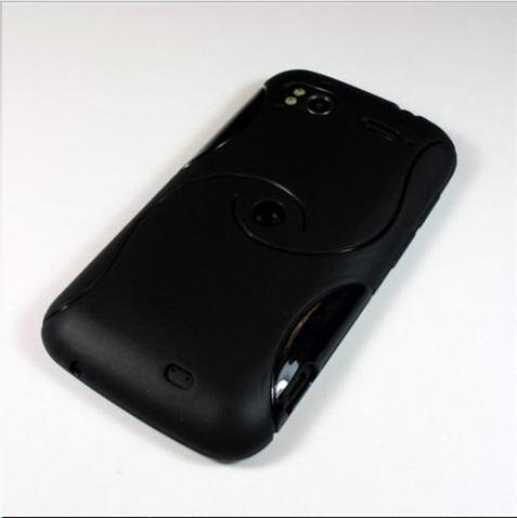 BLACK S-Design Soft Resin Case for HTC Sensation/ Sensation XE