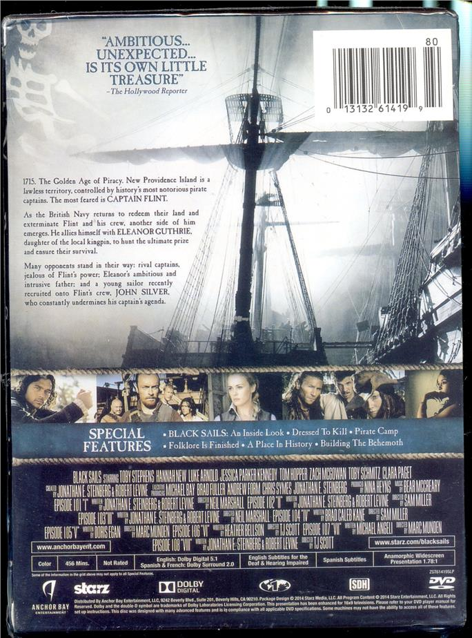 Black Sails - The Complete First Season - New DVD