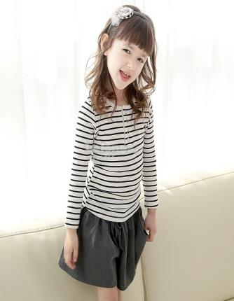 Black and White Striped long sleeve shirt*Clearance*