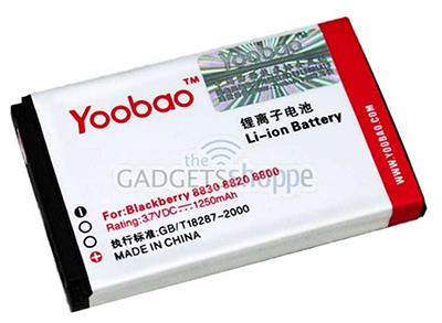 BLACKBERRY 8800 8820 8830 8350 YOOBAO C-X2 1250MAH BATTERY