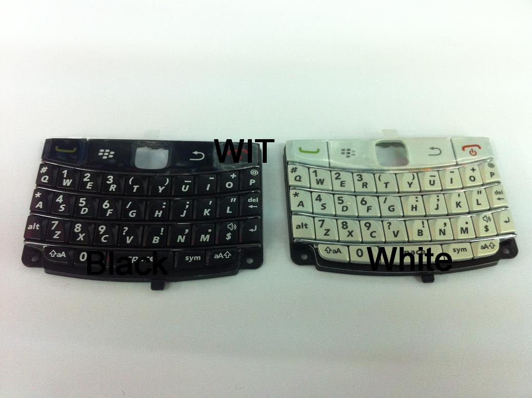 BlackBerry Bold 3 9780 White / Black Button Keypad BB