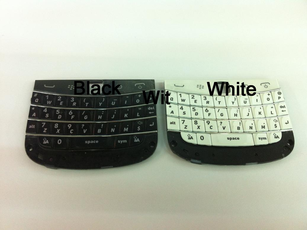 BlackBerry Bold 4 9900 9930 Black Button Keypad Black White