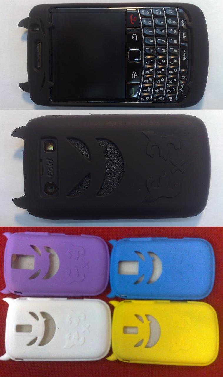 BLACKBERRY BOLD2 ONYX 9700 MULTI COLOUR DEVIL SILICON CASE