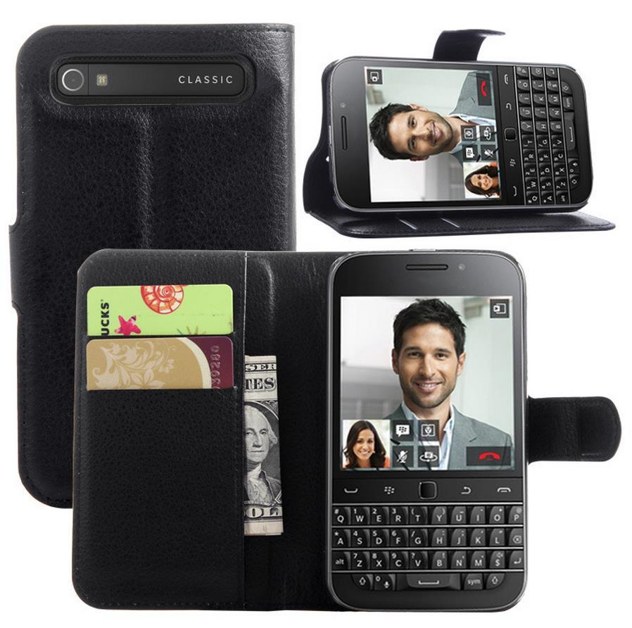 BlackBerry Classic Q20 Flip PU Leather Case Cover Casing +Free Gift