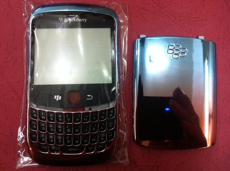 BLACKBERRY CURVE 8520 4 TONES BLUE RED HOUSING
