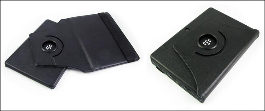 BlackBerry Playbook leather casing case - 360◦ Degree Rotate