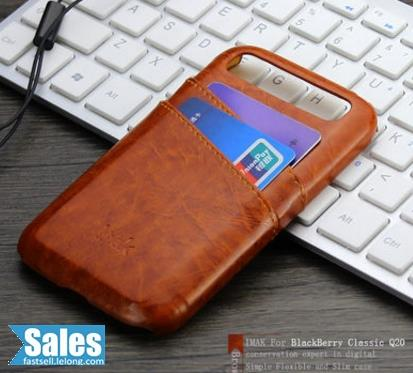 Blackberry Q20 Casing Case Cover Leather with Card holder