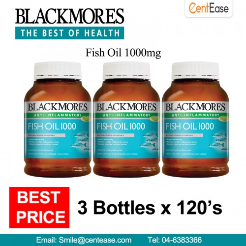 Blackmores fish oil 1000mg anti infla end 4 1 2019 5 11 pm for Fish oil inflammation