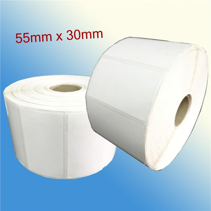 Blank Barcode Label Sticker 55mm x 30mm (2000 pcs per roll)