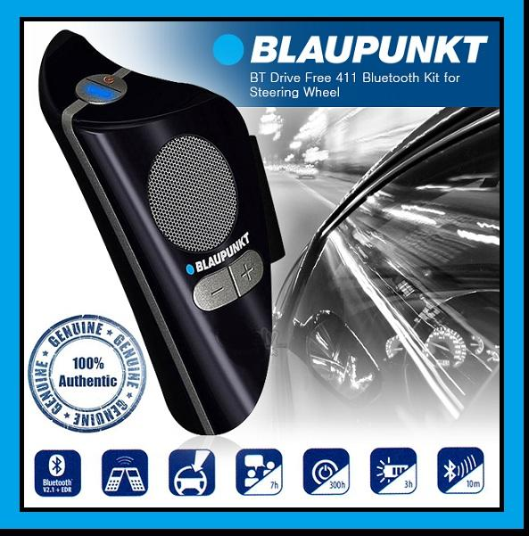 BLAUPUNKT BT Drive Free 411 Bluetooth Speaker Attached with Steering