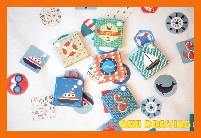 'Blue Ocean Label/Bakery Sticker' - Zakka/Diary/Photobook DIY