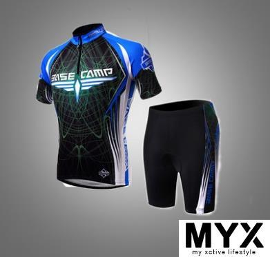 Blue Short Cycling Suit Shirt Jersey Clothing Bicycle Bike Riding