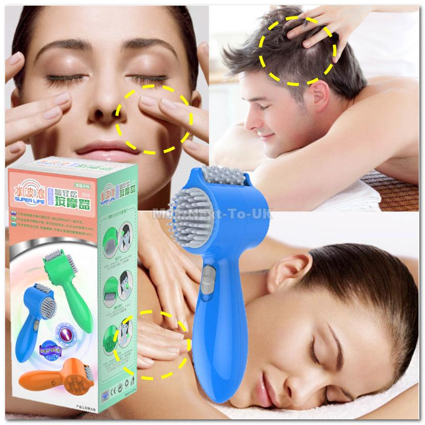 BLUE USB Powered Multi function Brain Comfort Massager Head Body Face