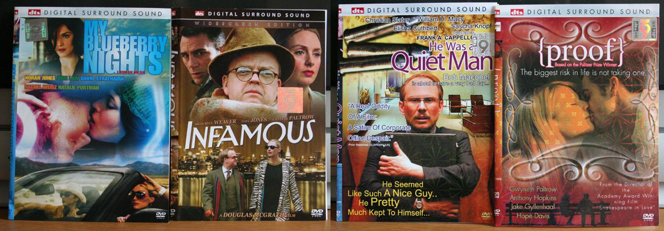 My Blueberry Nights/Infamous/He Was A Quiet Man/Proof 4 DVDs